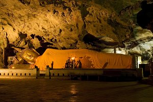 Reclining Buddha in Cave Sanctuary