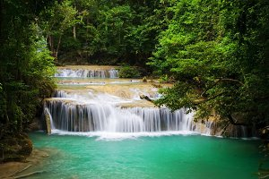 Jungle Watefall in Thailand