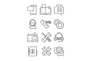 Customer service help icon. Office