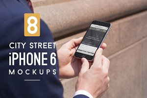 8 City Street iPhone 6/6s Mockups