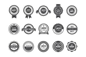 Vintage premium badge. Luxury high