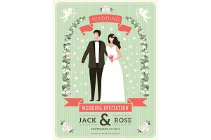 Wedding invitation background. Happy