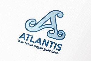 Atlantis Letter A Logo