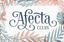 Afecta Clean (30% OFF) by  in Display Fonts