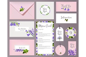 Florals wedding cards. Invited