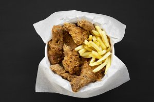 Tasty fastfood: fried chicken legs