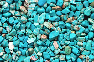 Turquoise mineral raw background