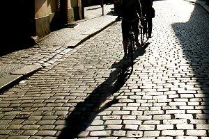 Bycicle riding.Prague,Czech Republic