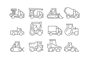 Construction vehicles. Heavy