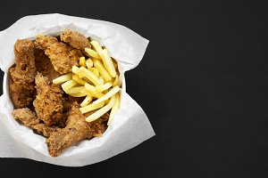 Tasty fastfood: fried chicken