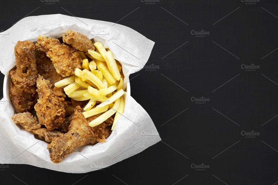 Tasty Fastfood Fried Chicken Food Images Creative Market