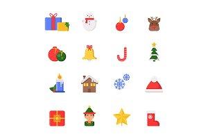 Christmas decoration symbols. Winter