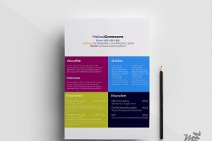 Color-Block Creative Resume