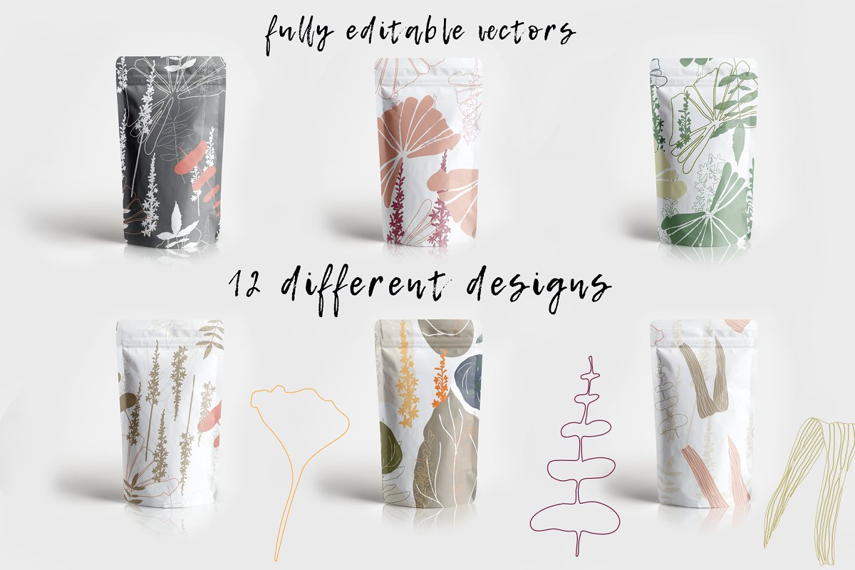12 Floral tropical patterns in Patterns - product preview 4