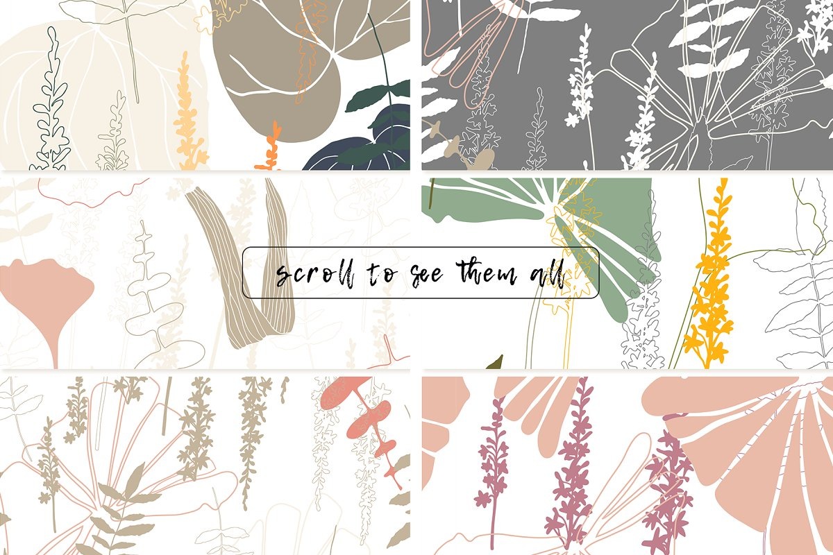 12 Floral tropical patterns in Patterns