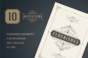 10 Vintage invitations volume 8