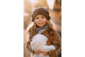 portrait of little girl on