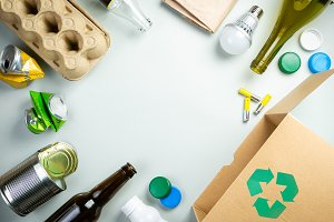 Recycling concept - recyclable