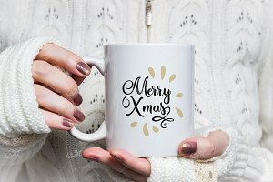 White Gloves & Mug Mock-up PSD Smart