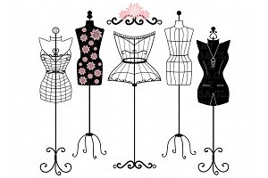 Mannequin Silhouette ClipArt