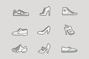 9 Shoe Icons and Graphics