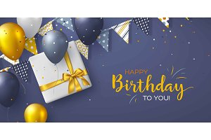 Happy Birthday holiday design for