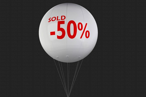 Advertising Balloon Mock-Up in Mockup Templates - product preview 2
