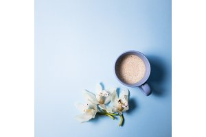 coffee, orchid flower