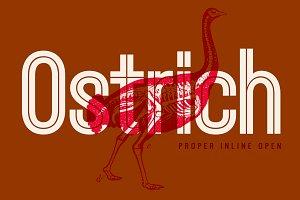 Ostrich Proper Inline - Open