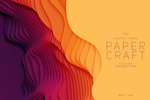 Paper Craft 5 Vibrant Backgrounds