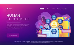 Human resources concept landing page