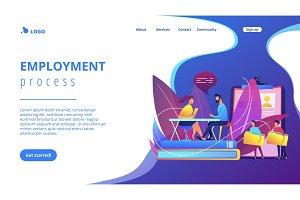 Job interview concept landing page.