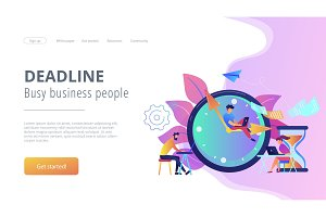 Deadline concept landing page.