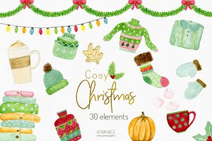 Christmas cozy clipart