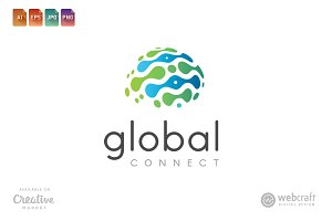 Global Connect Logo Template 3