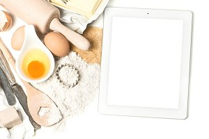 Notebook tablet pc and baking tools