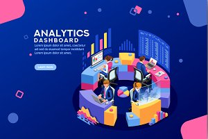 Analytics Dashboard Financial Banner