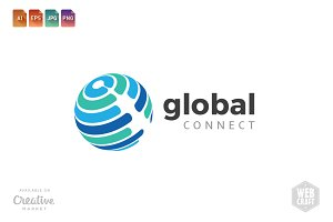 Global Connect Logo Template 1