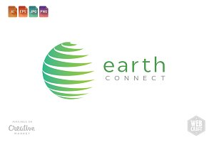Earth Connect Logo Template