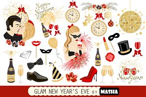 GLAM NEW YEAR'S EVE clipart