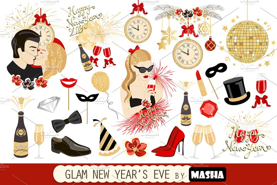New Year's Eve Clipart - Images to Celebrate the New Year