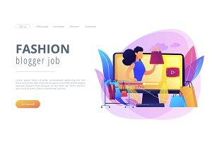 Fashion blog concept landing page.