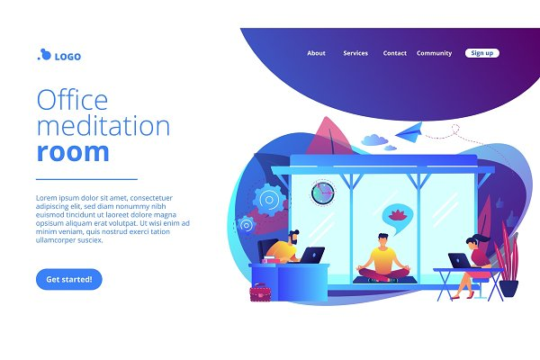 Office meditation booth concept