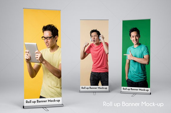 Download Roll Up Banner Mock-Up v4