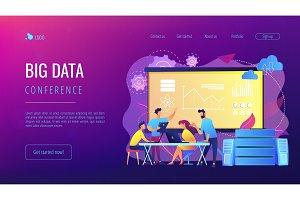 Big data conferenceconcept landing