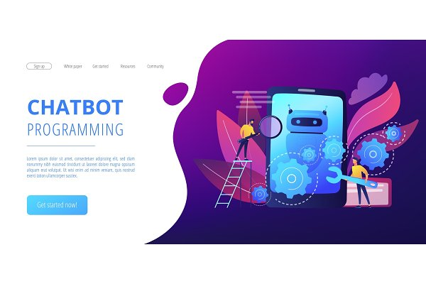 Chatbot app developmentconcept