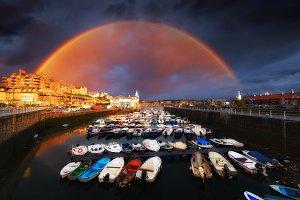 Rainbow over Arriluze