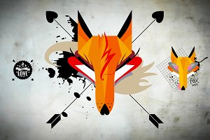 Fox Illustration Vector Print Pack