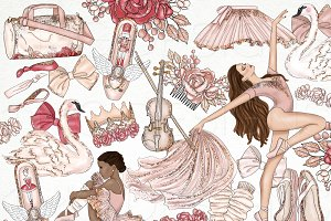 Ballet Dancer Fashion Girl Clip Art