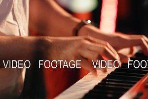 The hands of a musician closeup